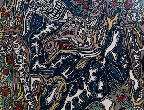 DPP-De ses grâces, 120 X 120 cm, acrylique sur toile, 2019